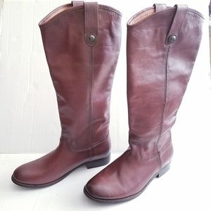 Frye Melissa 2 Knee-High Riding Leather Boot NWOB